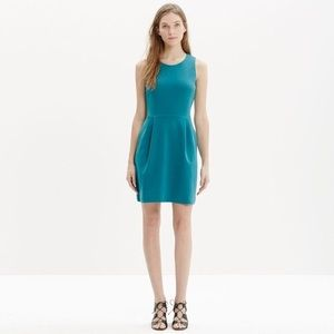 Madewell | Teal Fit & Flare Dress